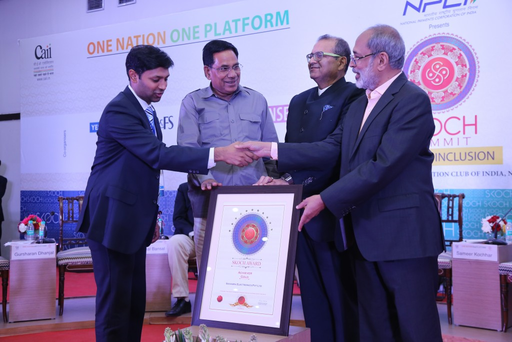 Sahasra Skoch Award for 100 SMES in India